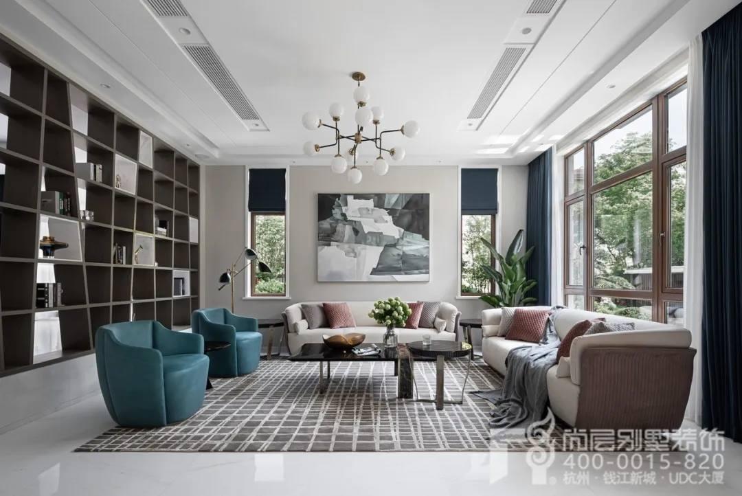 尚层现代风格别墅装修作品客厅