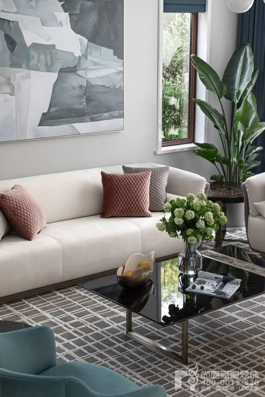 尚层现代风格别墅装修作品客厅装修设计