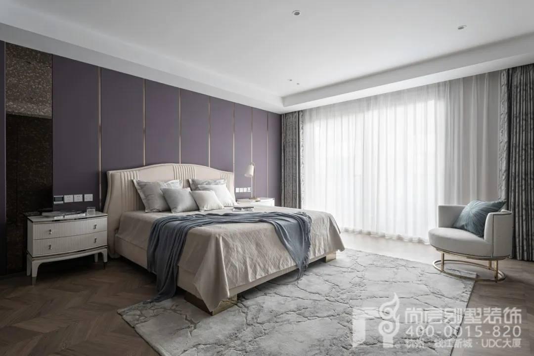 尚层现代风格别墅装修作品主卧室实景