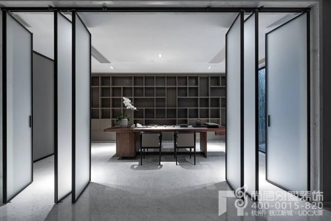 尚层现代风格别墅装修作品茶室实景
