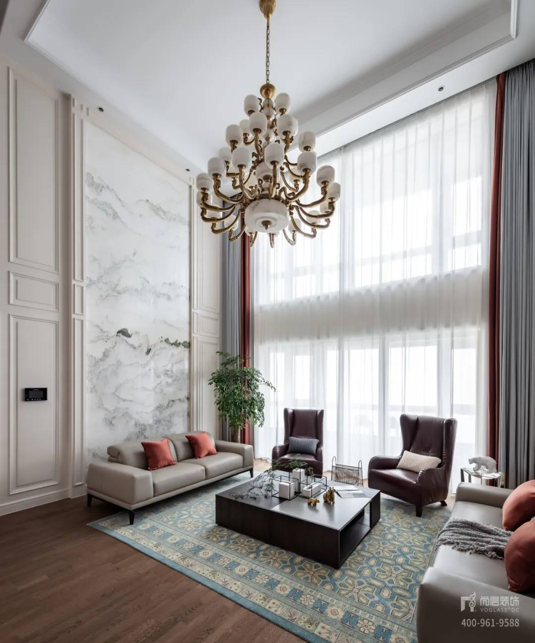 尚层装饰实景装修案例客厅装修设计效果
