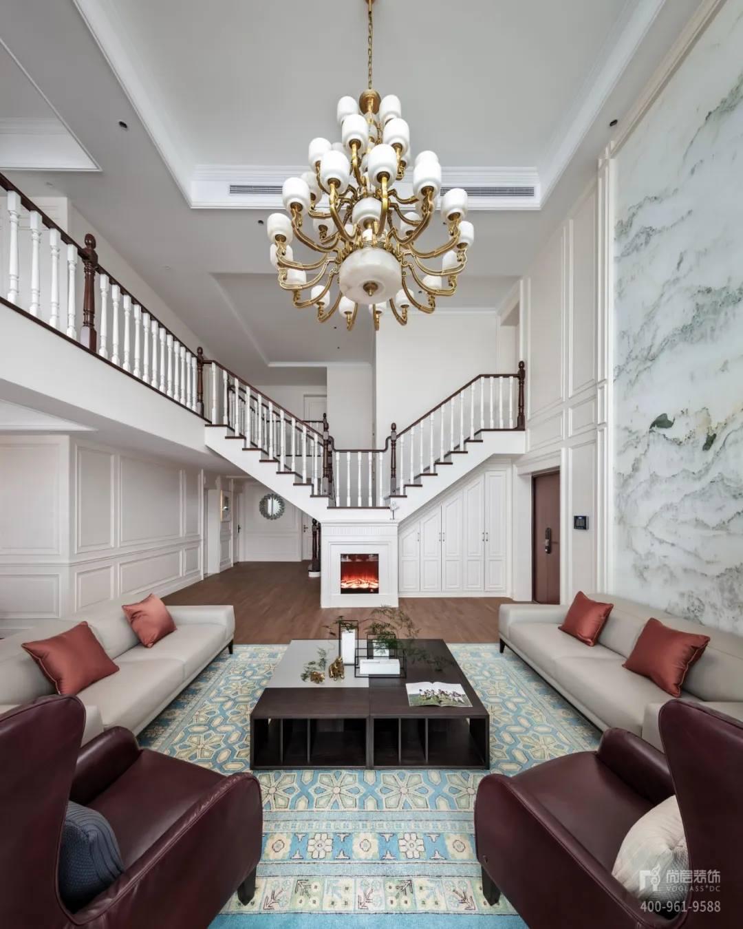 尚层装饰实景装修案例客厅楼层装修效果