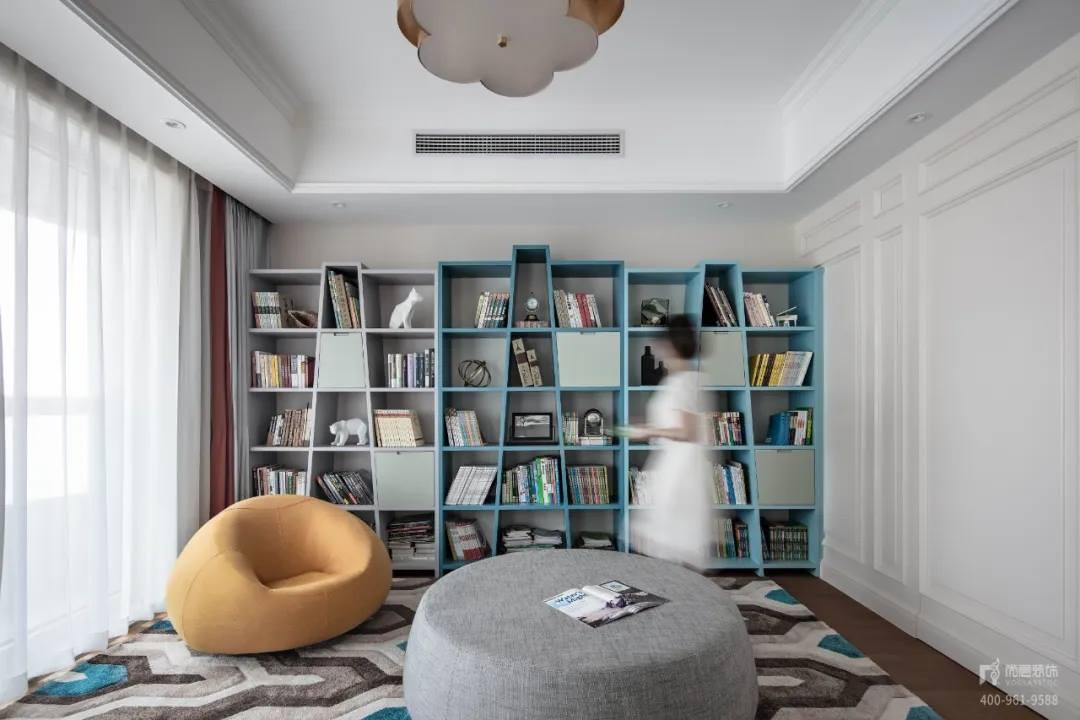 尚层装饰实景装修案例书房装修设计