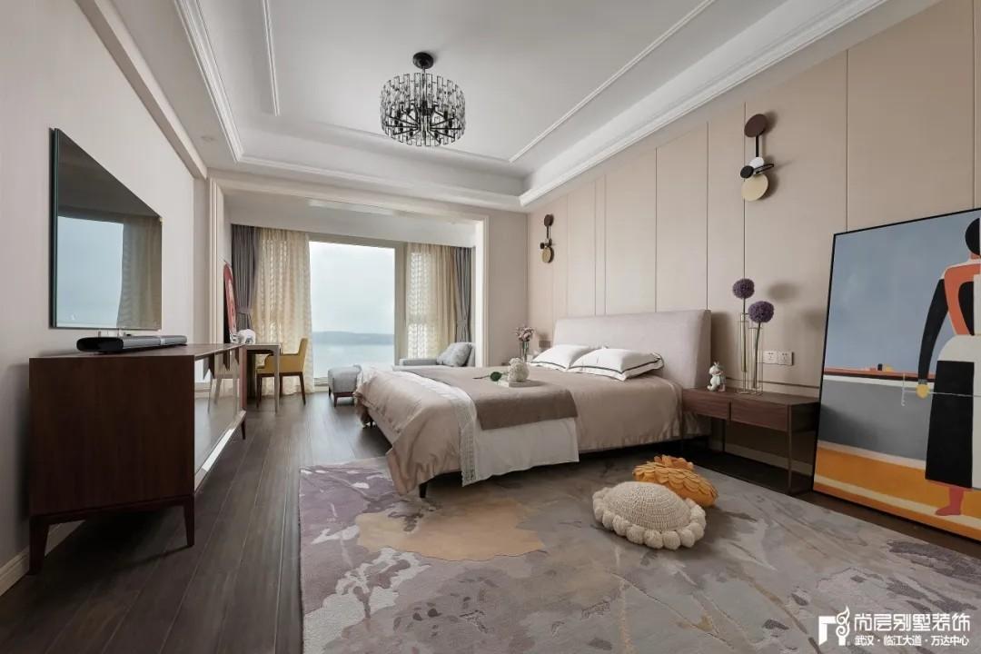 尚层别墅装修轻奢法式风次卧室装修设计