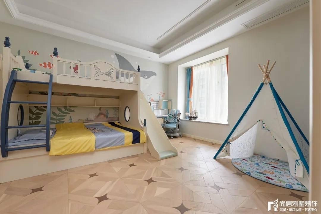 尚层别墅装修轻奢法式风儿童房装修设计