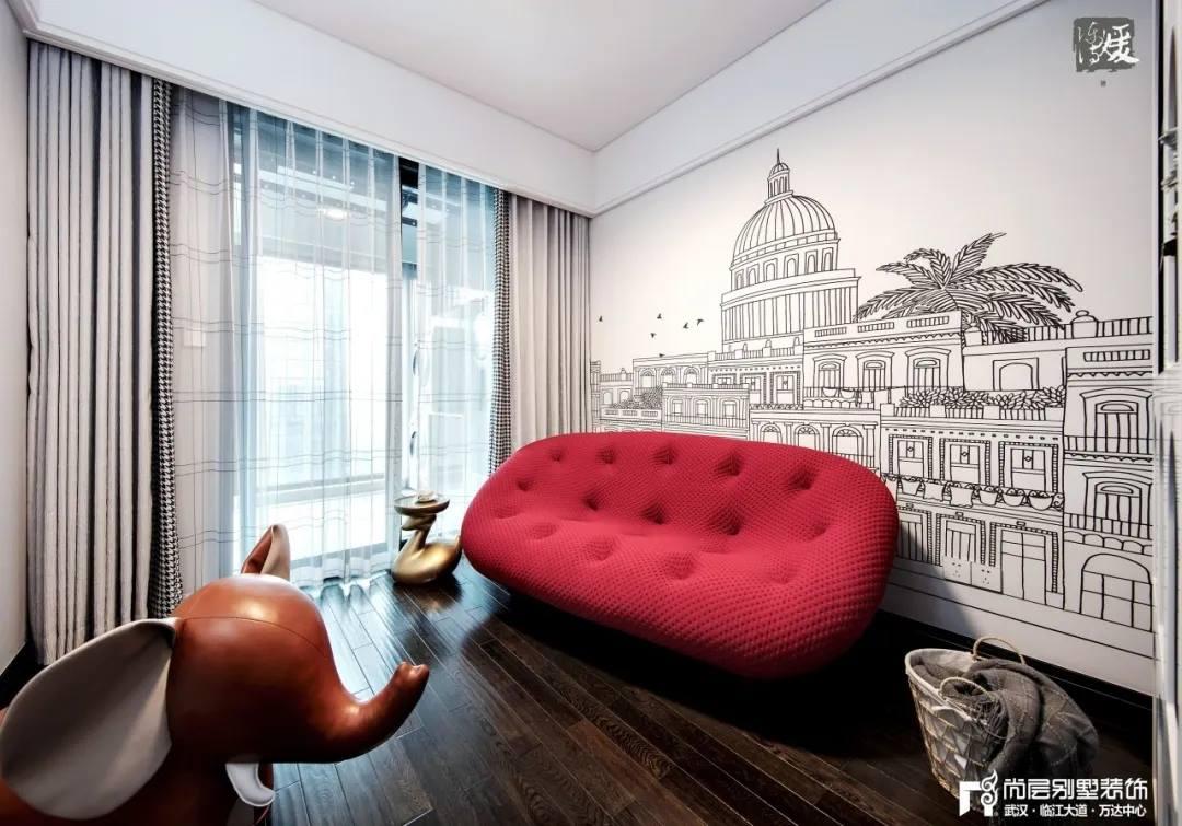 尚层别墅装修实景案例休闲室设计