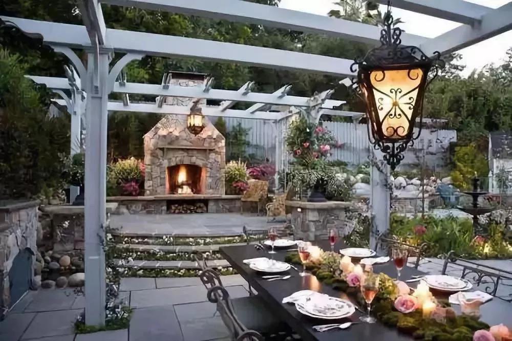 尚层装饰别墅全案设计庭院餐吧装修