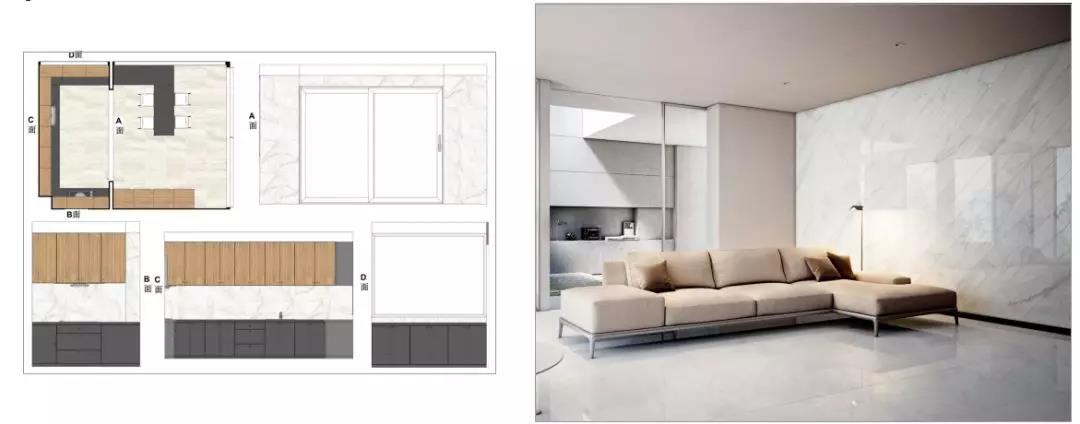 尚层装饰全案别墅装修设计瓷砖铺贴方案
