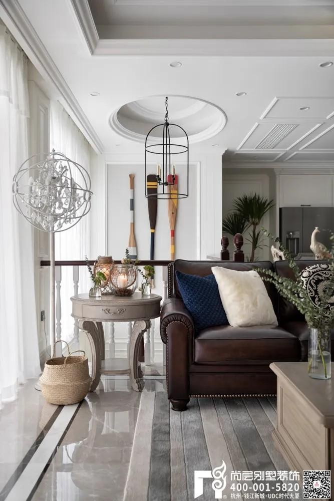 尚层装饰400平美式风格别墅软装设计