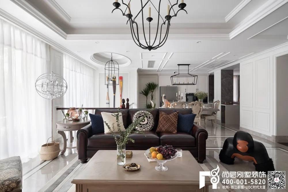 尚层装饰400平别墅美式软装设计实景