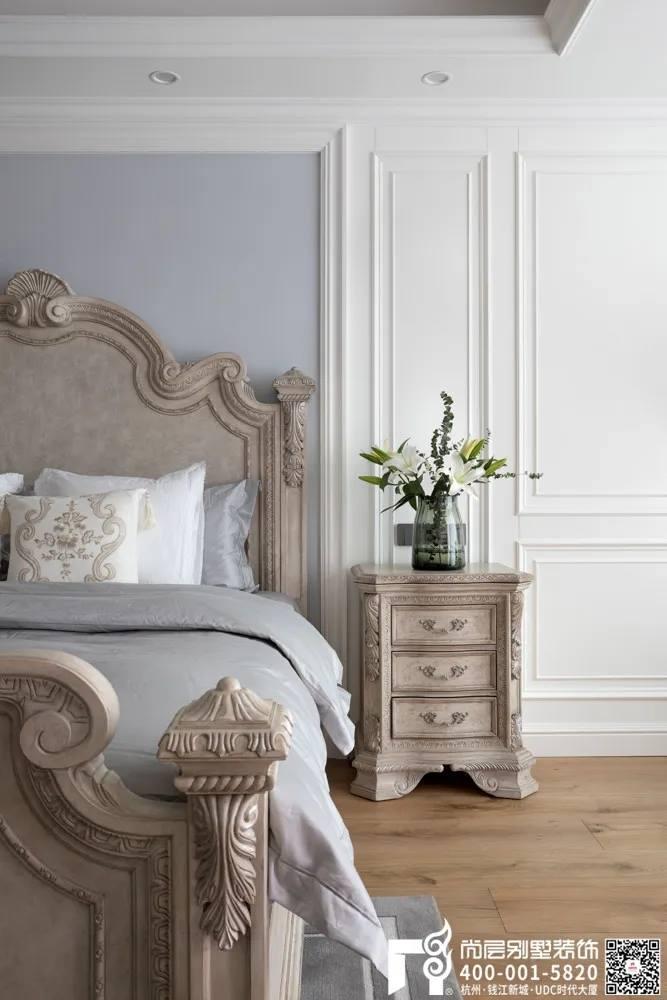 尚层装饰400平别墅美式风格卧室软装设计