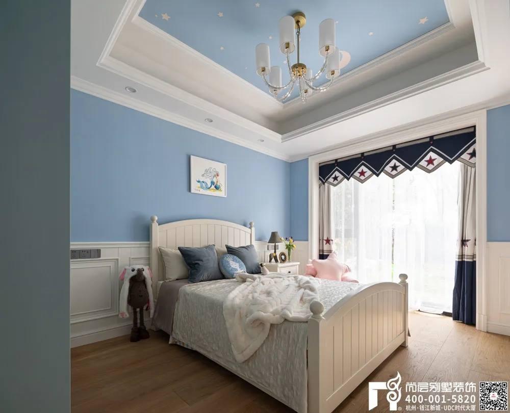尚层装饰400平别墅美式风格儿童房装修设计实景