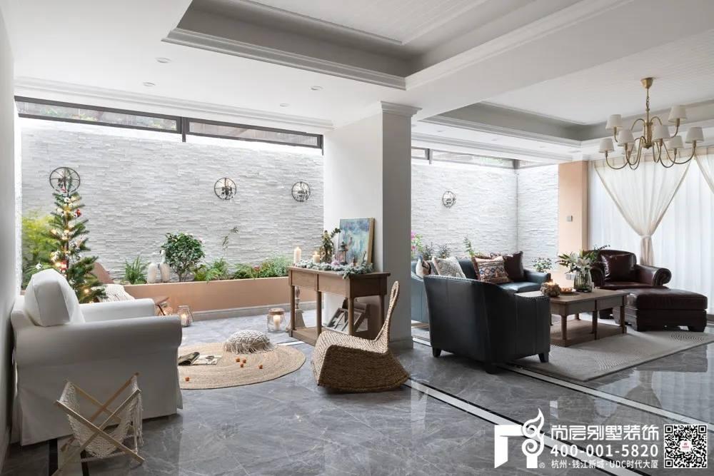 尚层装饰400平别墅美式风格休闲区装修设计