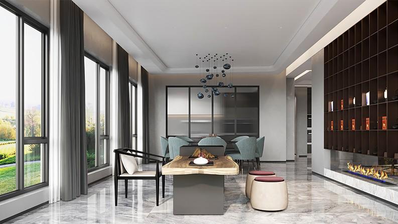 恒大山水城现代轻奢风格别墅装修设计