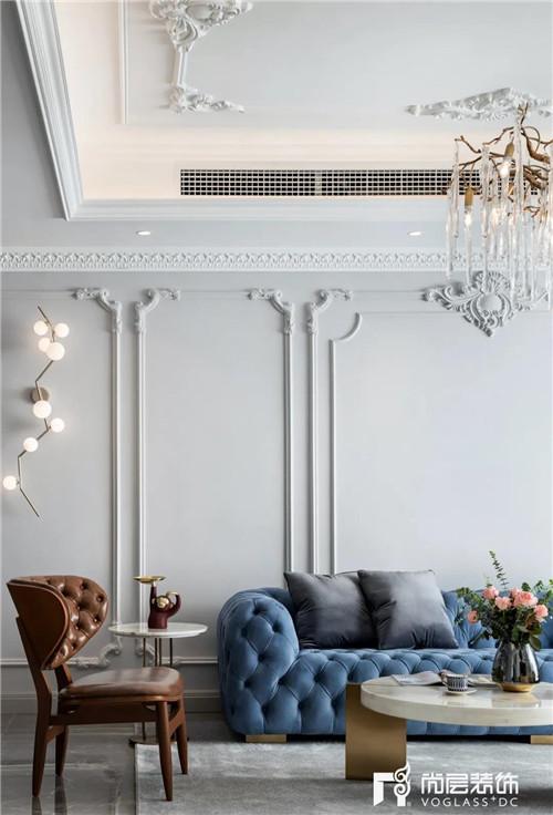 尚层220平现代法式风格别墅顶面机电系统设计