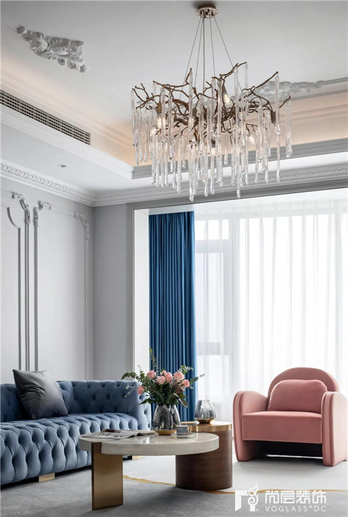 尚层220平现代法式风格别墅灯具家具设计