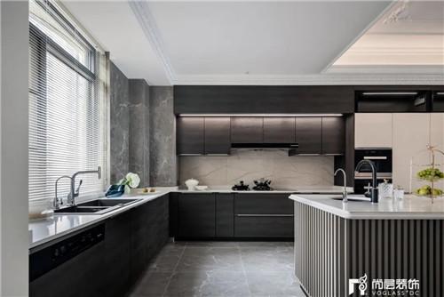 尚层220平现代法式风格别墅厨房操作台设计