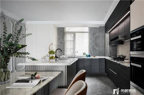 尚层220平现代法式风格别墅厨房动线设计