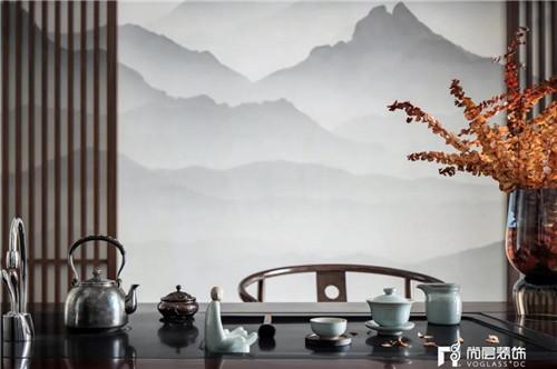 尚层220平现代法式风格别墅茶室装修设计