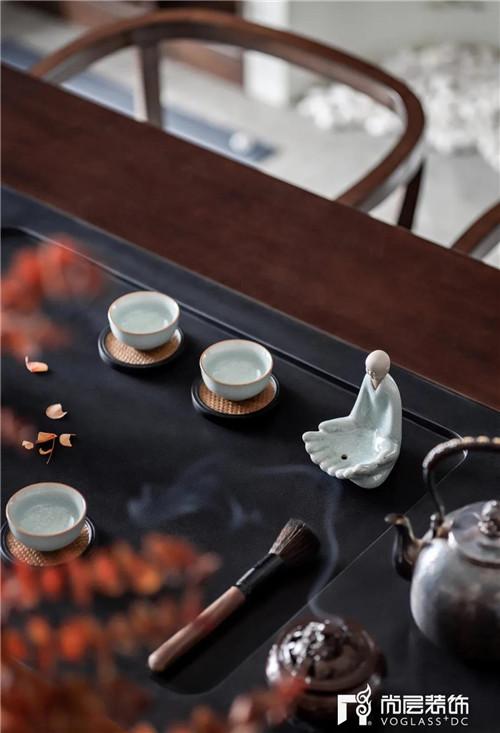 尚层220平现代法式风格别墅茶室茶器