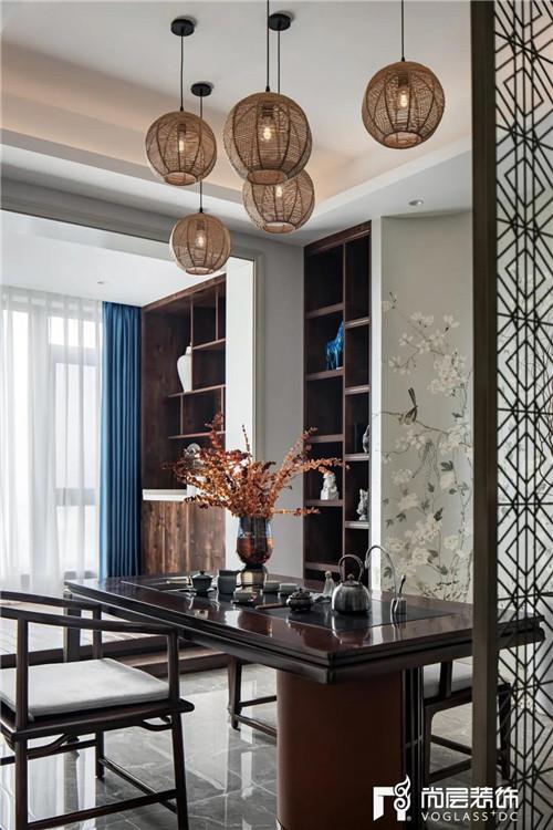 尚层220平现代法式风格别墅茶室动线设计