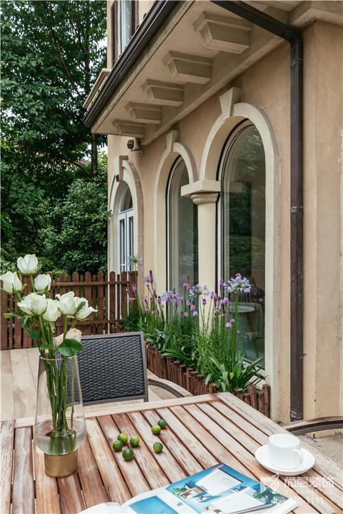 380㎡現代美式風格別墅花園設計