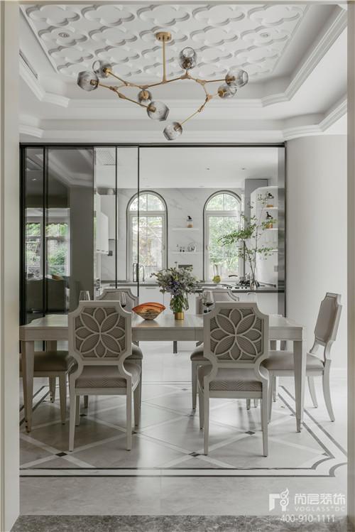 380㎡現代美式風格別墅餐廳設計