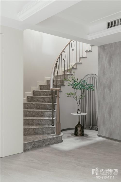 380㎡現代美式風格別墅樓梯裝修設計