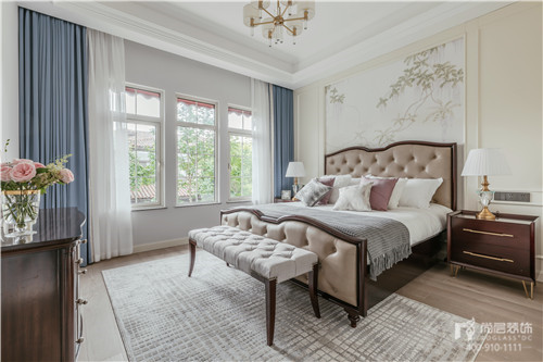 380㎡現代美式風格別墅主臥室空間設計