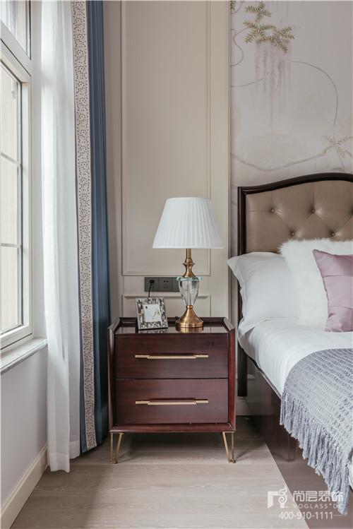 380㎡現代美式風格別墅主臥室設計