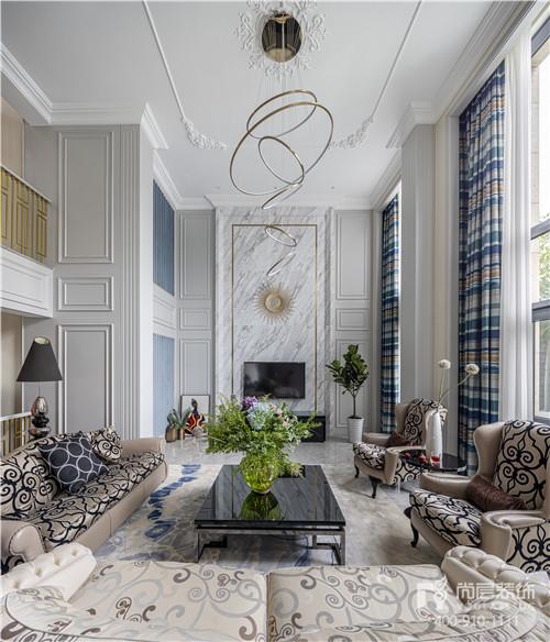 尚层装饰旧墅新装实景作品客厅设计