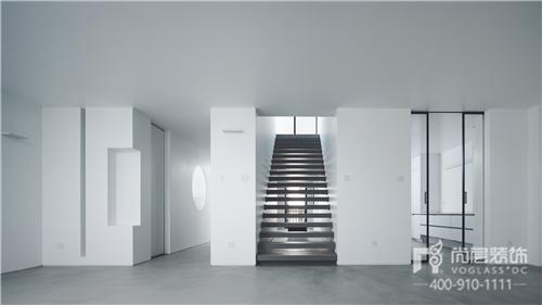 尚層實景作品500㎡純白極簡藝術裝修