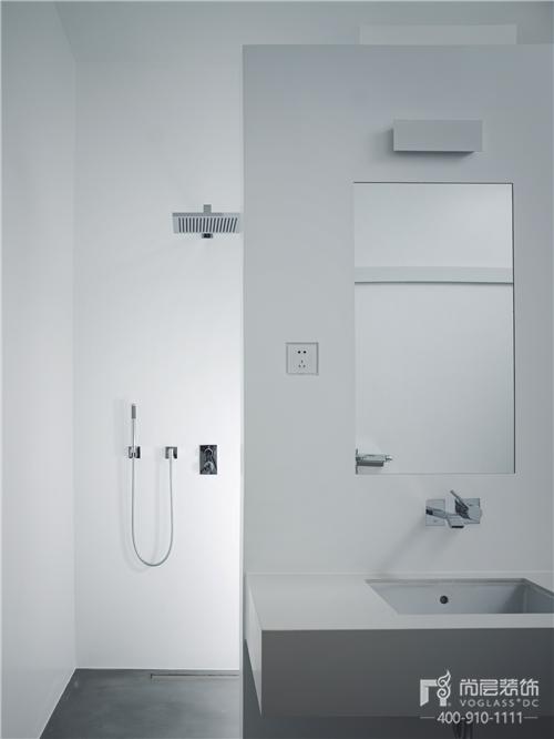 尚層實景作品500㎡純白極簡藝術洗手臺設計
